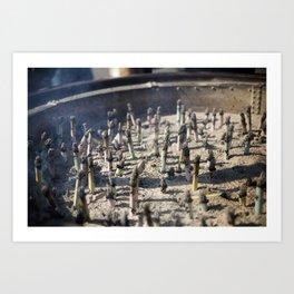 Incense Art Print