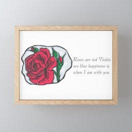 Roses are Red Framed Mini Art Print