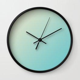 Light Yellow and Light Cyan Green Blue Aqua Gradient Ombré Wall Clock