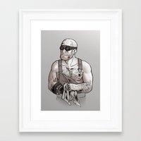 engineer Framed Art Prints featuring Engineer by Kata (koomalaama)