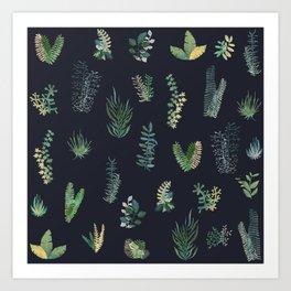 green garden at nigth Art Print