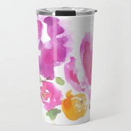 Violet Blooms Travel Mug