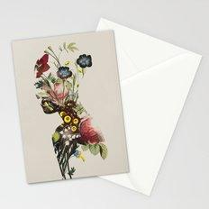 botanical woman. vintage style Stationery Cards