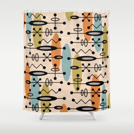 Mid Century Modern Radioactive Surfer 334 Shower Curtain