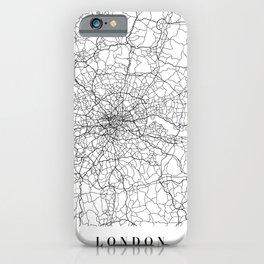 London England Street Map Minimal iPhone Case