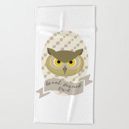 Señora Owl Beach Towel