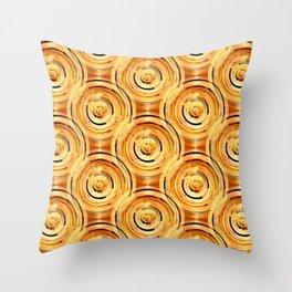 Gold Circles Throw Pillow