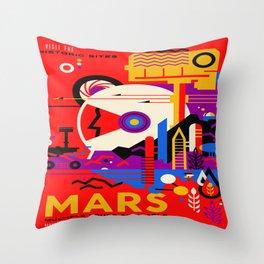 Mars Tour : Galaxy Space Throw Pillow