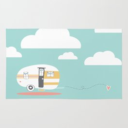 Lets See Really Cool Stuff Together Airstream Art  Rug