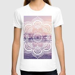Water Mandala Amethyst & Mauve T-shirt