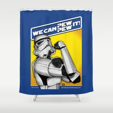 Stormtrooper: 'WE CAN PEW-PEW IT!' Shower Curtain