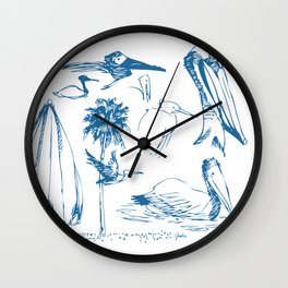 Florida Sketchbook 1 Wall Clock