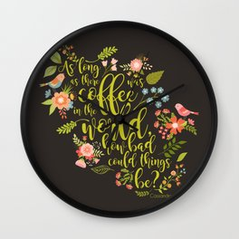 As long as there was coffee...Clary Fray. The Mortal Instruments Wall Clock