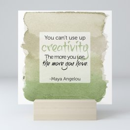 Inspirational Quote - Maya Angelou - Watercolor Mini Art Print