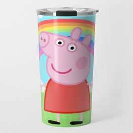 Peppa w/ rainbow Travel Mug
