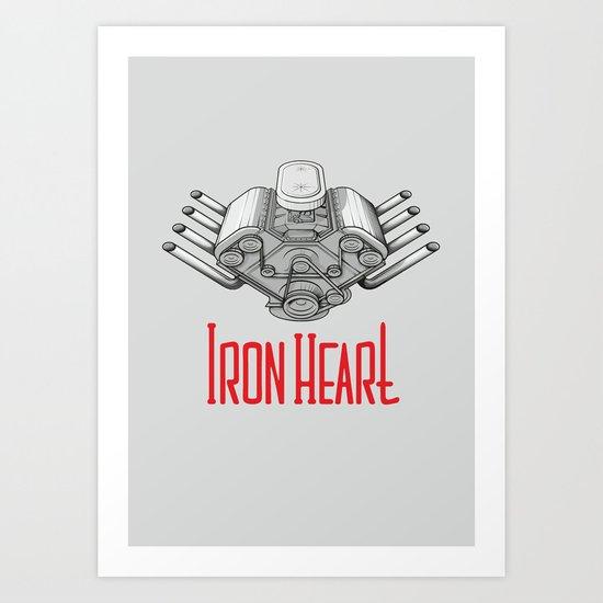 Iron Heart W Art Print