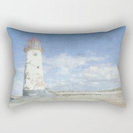 Talacre lighthouse textured Rectangular Pillow