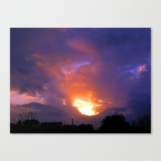 Sunset from my house 2 Canvas Print