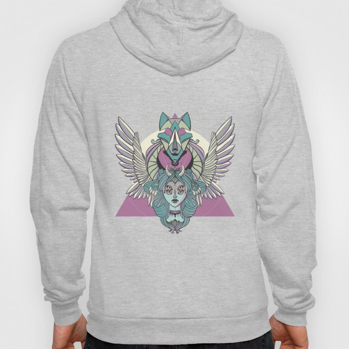 Valkyrie With Angel Wings And Wolf Hoody