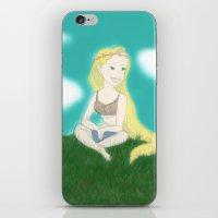 coachella iPhone & iPod Skins featuring Coachella Rapunzel by Zoelogy