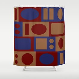 circles and rectangles Shower Curtain