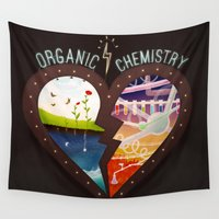 chemistry Wall Tapestries featuring Organic Chemistry by Jaclyn Tan