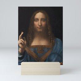 Salvatore Mundi by Leonardo Da Vinci (or Boltraffio) Artwork For Prints, Posters, Tshirts, Men, Wome Mini Art Print