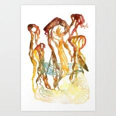 The Giant Mushrooms of Lake Myvatn Art Print