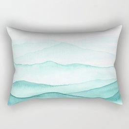 Mint Mountains Rectangular Pillow
