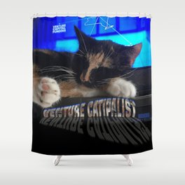 Sleeping Cat - Venture Catipalist Shower Curtain