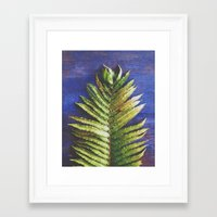 fern Framed Art Prints featuring Fern by Olivia Joy StClaire