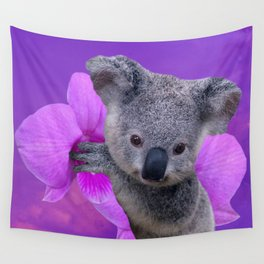 Koala and Orchid Wall Tapestry