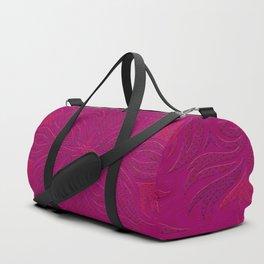 Magenta & Pink Flaming Flower Duffle Bag