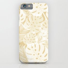 Tropical Shadows - Beige / White iPhone Case