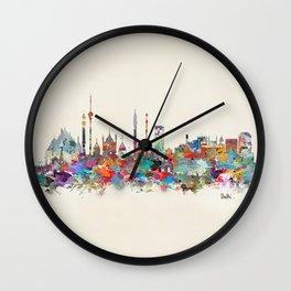Delhi india skyline Wall Clock