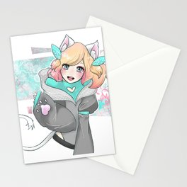 Kitty OC Digital Drawing Stationery Cards