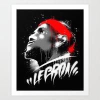 lebron Art Prints featuring Lebron J by squadcore