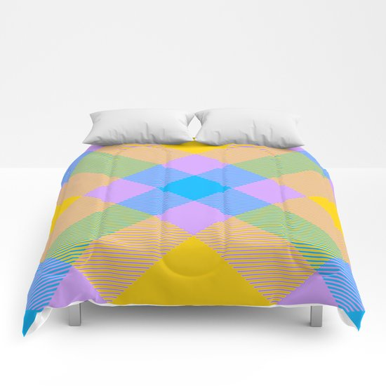 Tartan Pattern 8 Comforters