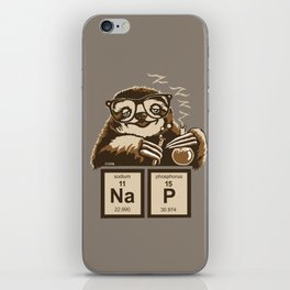 Chemistry sloth discovered nap iPhone Skin