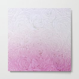 roses and pink gradient Metal Print