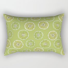 Lime Oranges Pattern Rectangular Pillow