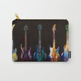 Sounds of music. Five colorful guitars. Carry-All Pouch