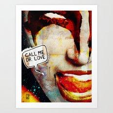 Kiss/Gene Simmons/Demon/Dr. Love Art Print