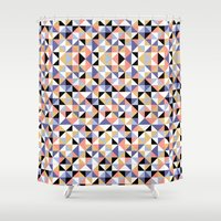 90s Shower Curtains featuring 90s geometrics by Lily Mitchell
