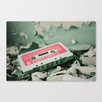 old school Canvas Prints featuring Old School  by Riot Jane
