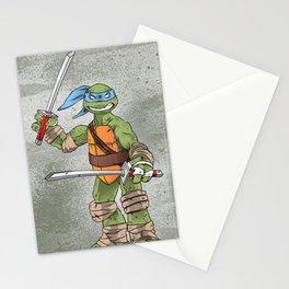 Leonardo TMNT Print - !TURTLE POWER! Stationery Cards