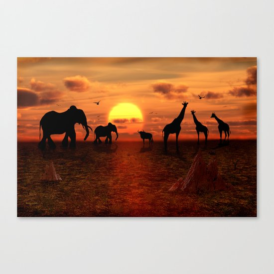 Savanne 2 Canvas Print