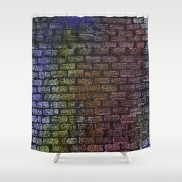 Brick textured wall on canvas ready for graffiti. Shower Curtain
