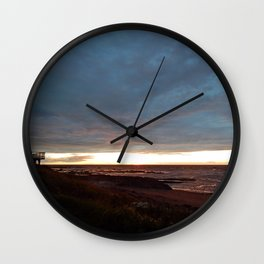 The View Under the Storm Wall Clock