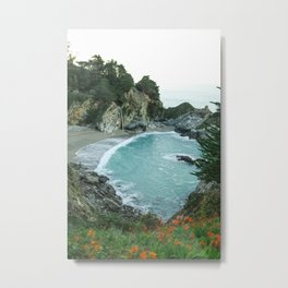 McWay Falls, Big Sur, California in Spring Metal Print
